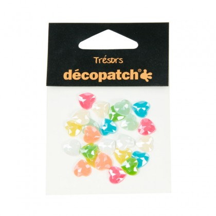 DECOPATCH:Accessories Hearts 1cm Pearl Pastel 24s