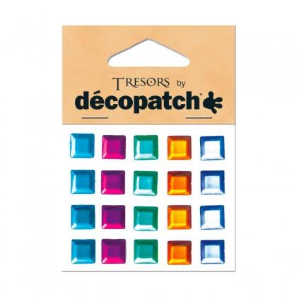 DECOPATCH:Accessories Squares Multicolour 20s