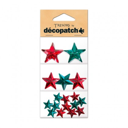 DECOPATCH:Accessories Stars Red/Green 17s