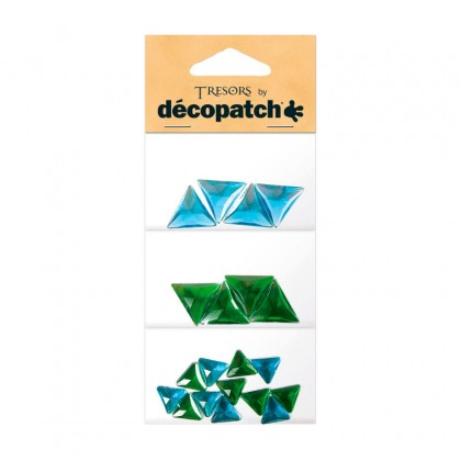 DECOPATCH:Accessories Triangles Green/Blue 20s