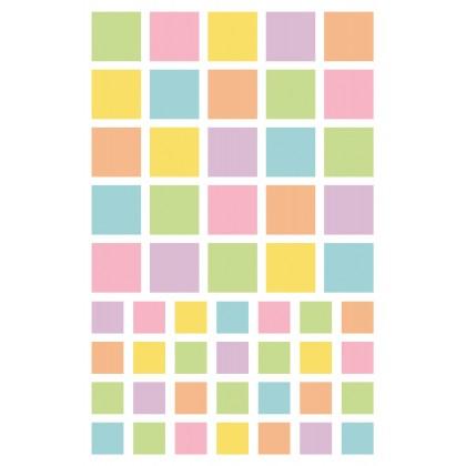 MAILDOR Geo Stickers Initial Square 4s