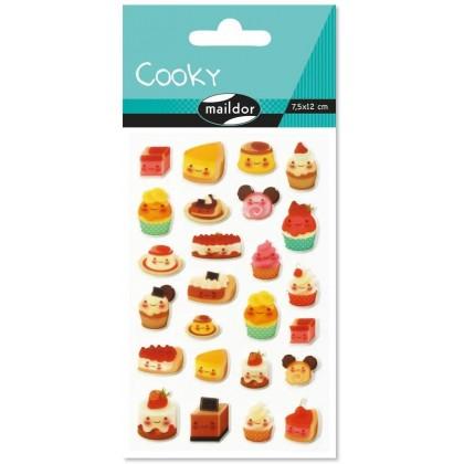 MAILDOR 3D Stickers Cooky Kawaii Cakes 1s