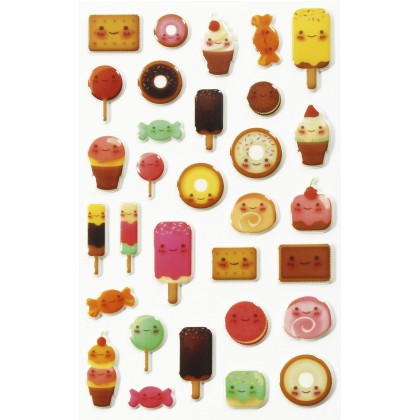 MAILDOR 3D Stickers Cooky Kawaii Sweets 1s