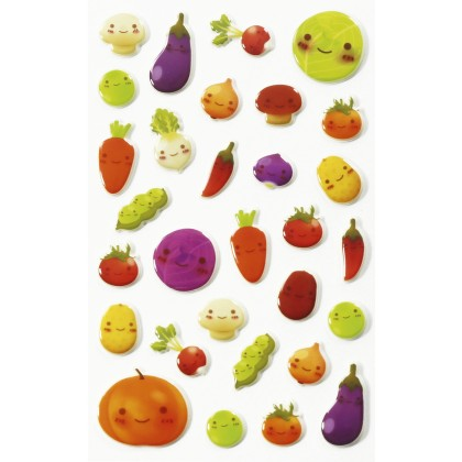 MAILDOR 3D Stickers Cooky Kawaii Vegetables 1s