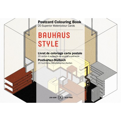 PEPIN Postcard Colouring Book Bauhaus Style