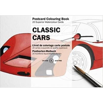 PEPIN Postcard Colouring Book Classic Cars