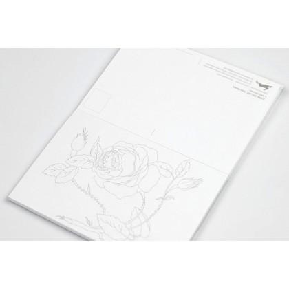 PEPIN Postcard Colouring Book Floral Still Life