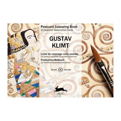 PEPIN Postcard Colouring Book Gustav Klimt